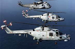 LYNX HELICOPTER,MK 8 AND MK 3, FROM 815 SQN WITH SEA KING