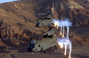 Aus. Chinooks Release Flares