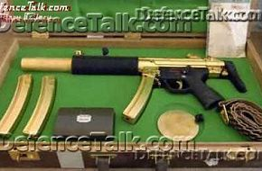 gold plated German-made MP-5 submachine gun