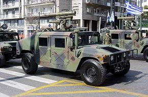 MILAN Anti Tank Missile on Hummer Hellenic Army