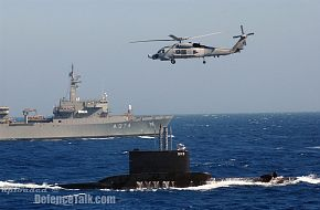 Oil Tanker, Submarine and Aegean Hawk Hellenic Navy