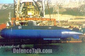 midget submarine of the UNA class modified in Croatian service