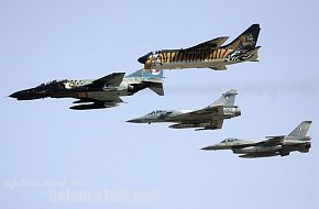 A-7E, F-4E, Mirage2000 and F-16 Hellenic Airforce