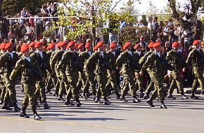Soldiers of the 71st Air-Mobile Brigade Hellenic Army