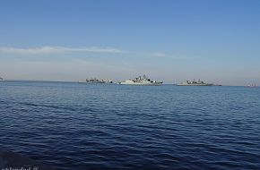 "Hellenic Navy Frigates in Thessaloniki Port during ""OXI"" day"