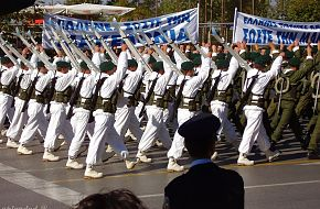 Greek Alpine Commandos in Thessaloniki parade