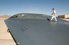 Wing surface of a B-2 Spirit Bomber - US Air Force