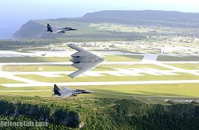 F-15E Strike Eagles and B-2 Spirit Bomber - US Air Force
