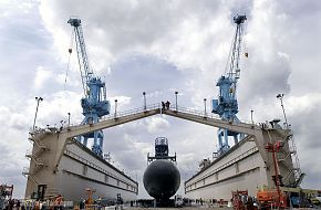 launch of Texas (SSN 775) - nuclear-powered submarine - US Navy