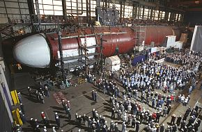 Construction of Texas (SSN 775) - nuclear-powered submarine - US Navy