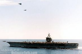 USS Enterprise from an Escort - US Navy