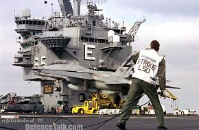 F-14 of US Navy Flight Deck Landing