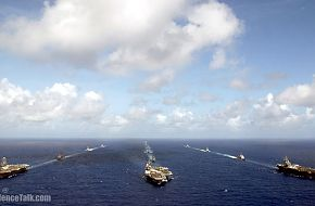 US Navy aircraft carriers at the Exercise Valiant Shield 2006