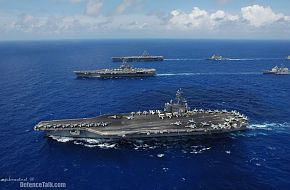 US Navy Aircraft Carriers - Valiant Shield 2006.