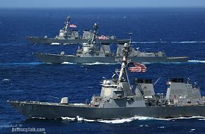 Three Arleigh Burke-class guided-missile destroyers - Valiant Shield 2006.