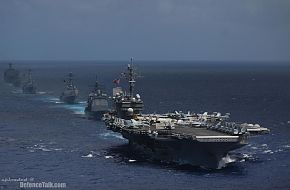 USS Kitty Hawk (CV 63) carrier strike group - Valiant Shield 2006.