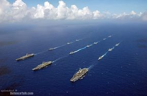 Aircarft Carrier Strike groups - Valiant Shield 2006.