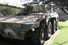 Rooikat 76 wheeled armoured fighting vehicle