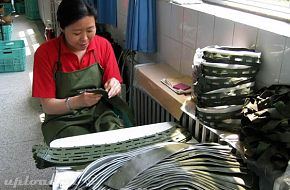 The making of helmets for PLA soldiers