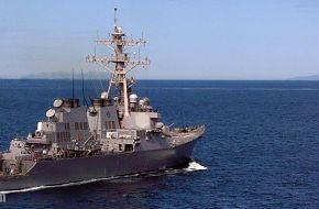 USS O'Kane DDG-77 cruises - US Navy Arleigh Burke guided missile destroyer