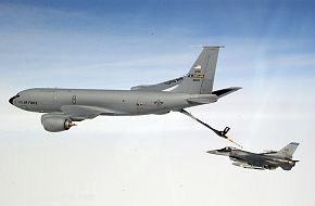 F-16 Fighting Falcon and KC-135 during Exercise Northern Edge
