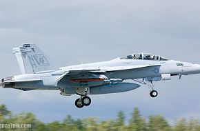 An F/A-18F Super Hornet - Black Aces