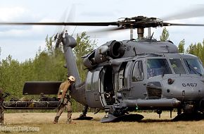 HH-60 Pave Hawk during a combat search and rescue mission for exercise Nort