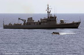 USS Tortuga (LSD 46) and corvette Apolinario Mabini (PS 36)