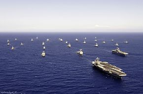 formation of ships and submarines from the U.S. Navy and seven other navies
