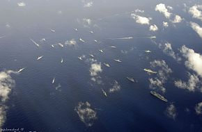 Rim of the Pacific (RIMPAC) exercise breaks formation