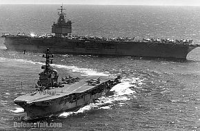 HMAS Melbourne and USS Enterprise