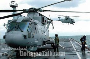 Westland Merlin HMA 1 on Argus deck