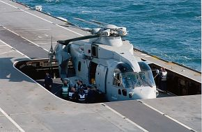 Westland Merlin HMA 1on RFA Argus's lift