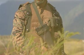 US Marine during perimeter watch, RIMPAC 2006