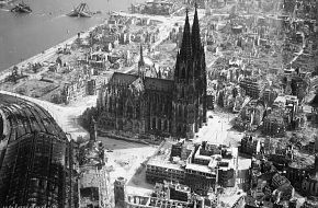 Bomb damage over Cologne.