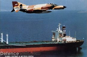 F-4 - Iran Air Force Fighter over ship