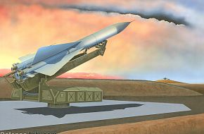 SA-5 surface-to-air missiles in Libya - Military Weapons Art