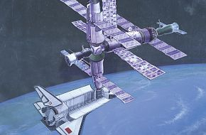 Space Station and Shuttle - Military Weapons Art