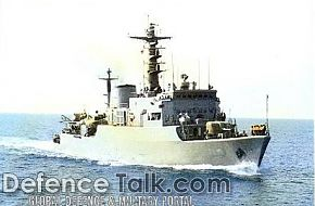 Iraqi training ship IBN KHALDOUM of Yugoslavian desing