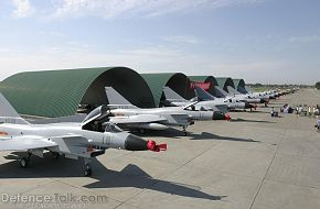 J-10 Fighter Jet in Hangers - Chinese Air Force