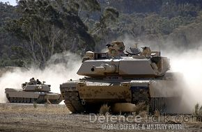 Australia's M1A1's on display