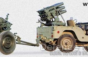 Iranian built rocket launcher (12 barrels)