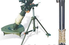 Iranian made Fateh mortar launcher
