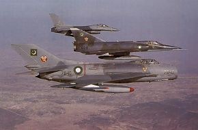 F-16A,F-6 farmer,Mirage-5 aircraft from SSC