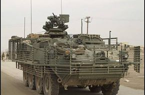 Stryker with Slat Armour