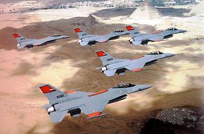 A Batch of Egypt F-16C Block 30 In a formation flight