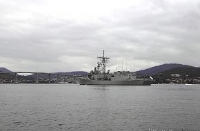 HMAS Newcastle FFG06 at Royal Hobart Regatta Feb 2007
