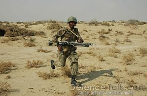 Soldier on the move, Pak-Saudi Armed Forces Exercise