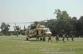 Helicopter - Join Pakistani & Turkish Armed Forces Exercise