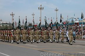 Pakistan Army Flag Beareres - March 23rd, Pakistan Day
